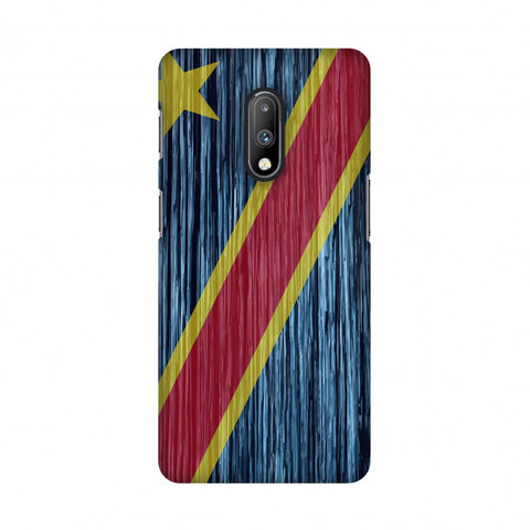 DR Congo flag- Textures Slim Hard Shell Case For OnePlus 7