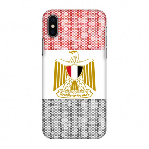 Egypt Flag - Shapes Slim Hard Shell Case For Apple iPhone X