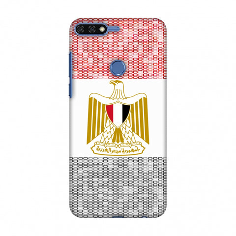 Egypt Flag - Shapes Slim Hard Shell Case For Huawei Honor 7C