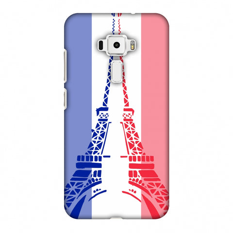 Eiffel Tower - France Flag Slim Hard Shell Case For Asus Zenfone 3 ZE520KL