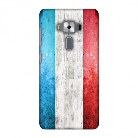 France Flag - Rugged Slim Hard Shell Case For Asus Zenfone 3 Deluxe ZS570KL