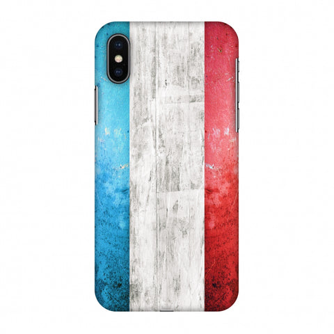 France Flag - Rugged Slim Hard Shell Case For Apple iPhone X