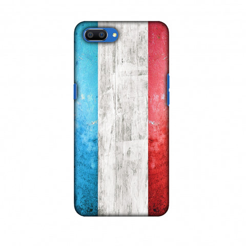 France Flag - Rugged Slim Hard Shell Case For Oppo Realme C1