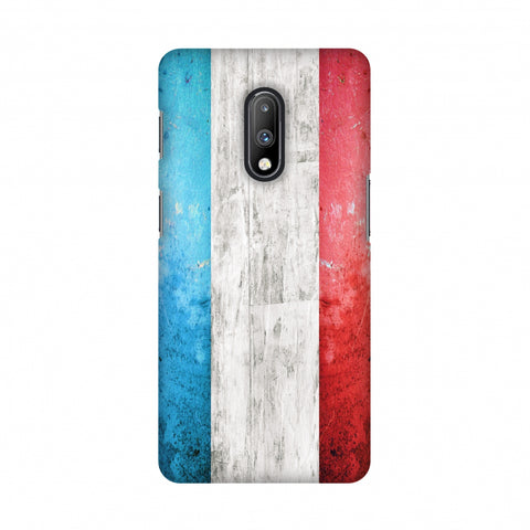 france flag- Rugged Slim Hard Shell Case For OnePlus 7