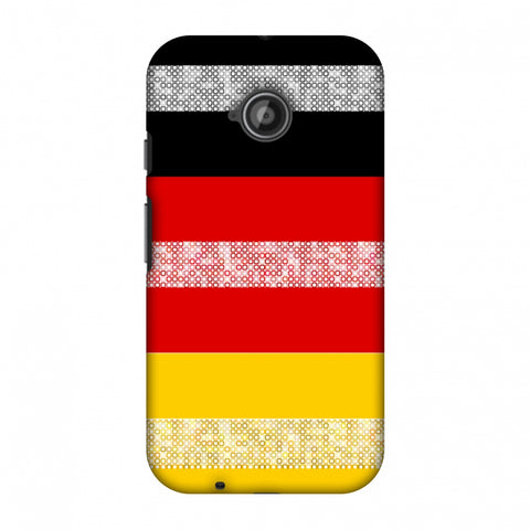 Germany Flag - Shapes Slim Hard Shell Case For Motorola Moto E 2nd Gen