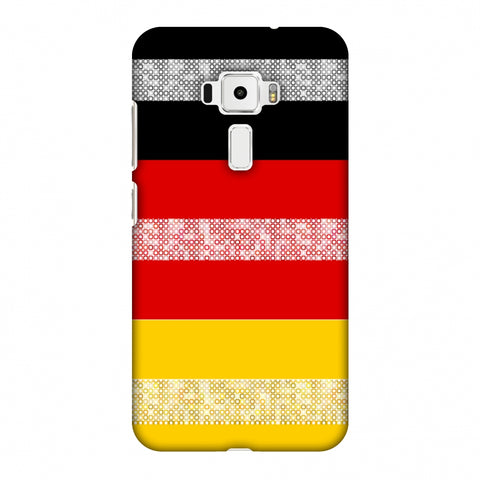 Germany Flag - Shapes Slim Hard Shell Case For Asus Zenfone 3 ZE520KL