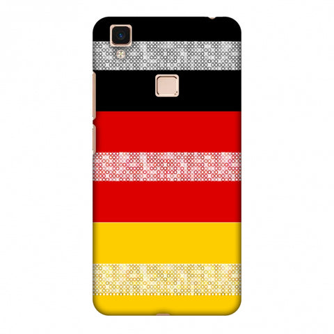 Germany Flag - Shapes Slim Hard Shell Case For Vivo V3 Max