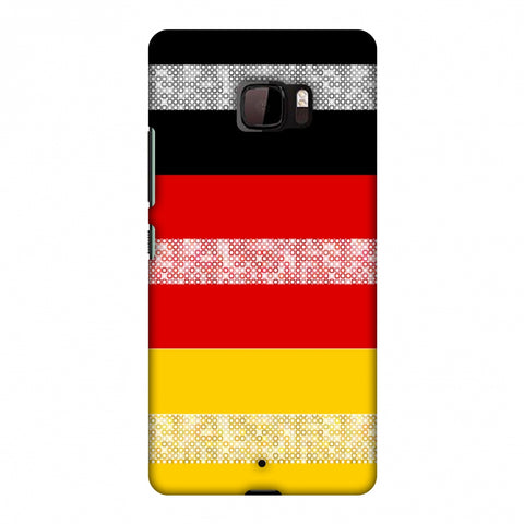 Germany Flag - Shapes Slim Hard Shell Case For HTC U Ultra