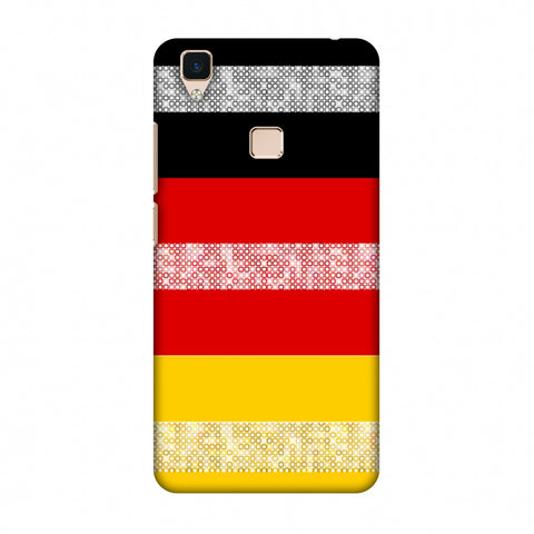 Germany Flag - Shapes Slim Hard Shell Case For Vivo V3