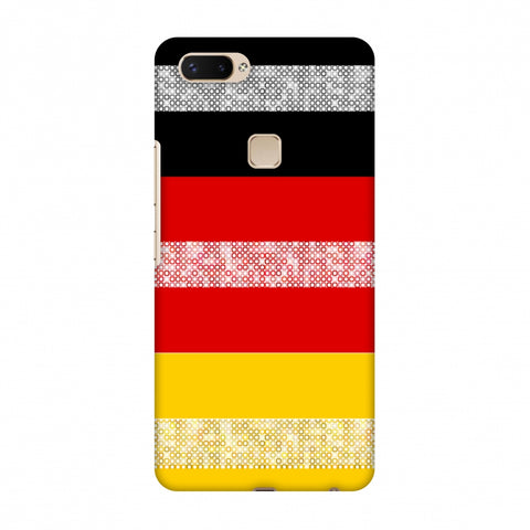 Germany Flag - Shapes Slim Hard Shell Case For Vivo X20 Plus