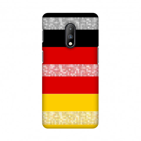 Germany flag- Shapes Slim Hard Shell Case For OnePlus 7