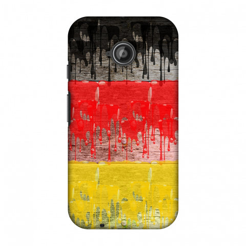 Germany Flag - Paints Slim Hard Shell Case For Motorola Moto E 2nd Gen