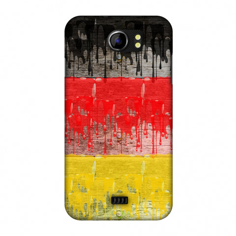 Germany Flag - Paints Slim Hard Shell Case For Micromax Canvas 2 A110