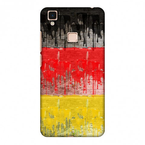 Germany Flag - Paints Slim Hard Shell Case For Vivo V3 Max
