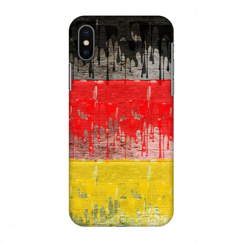 Germany Flag - Paints Slim Hard Shell Case For Apple iPhone X