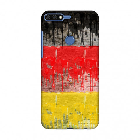 Germany Flag - Paints Slim Hard Shell Case For Huawei Honor 7C