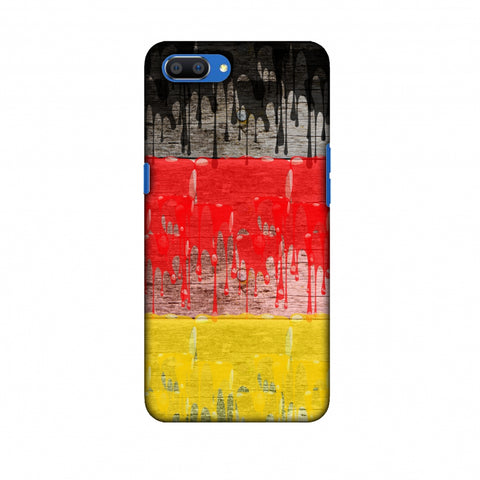 Germany Flag - Paints Slim Hard Shell Case For Oppo Realme C1