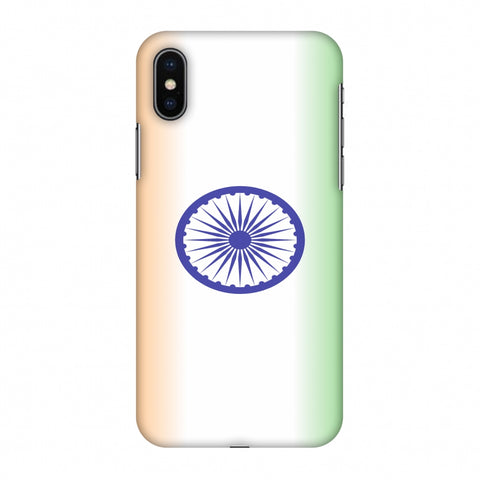 India Flag - Ombre Slim Hard Shell Case For Apple iPhone X