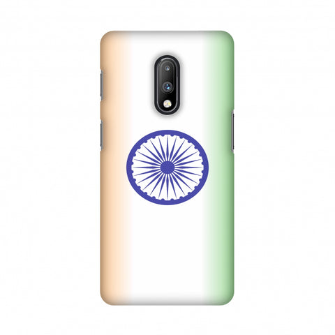 India flag- Ombre Slim Hard Shell Case For OnePlus 7