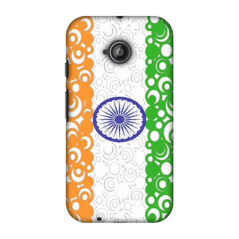 India Flag - Concentric Circles Slim Hard Shell Case For Motorola Moto E 2nd Gen
