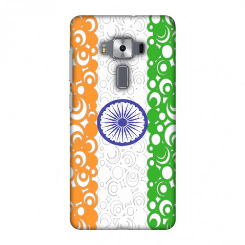 India Flag - Concentric Circles Slim Hard Shell Case For Asus Zenfone 3 Deluxe ZS570KL