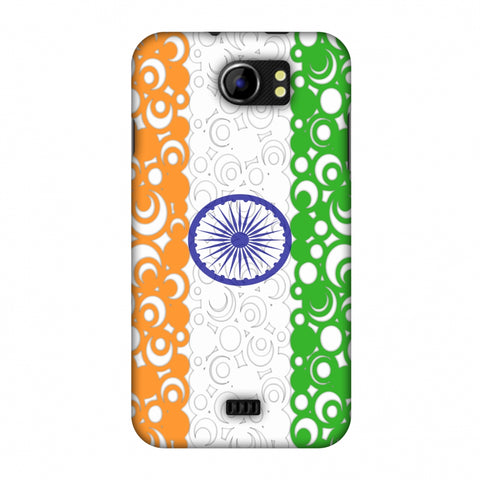 India Flag - Concentric Circles Slim Hard Shell Case For Micromax Canvas 2 A110