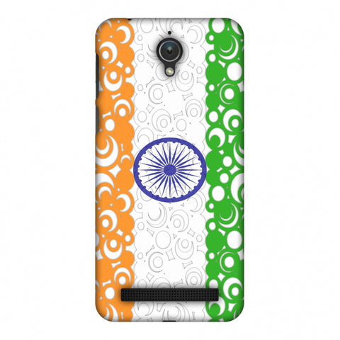 India Flag - Concentric Circles Slim Hard Shell Case For Asus Zenfone Go ZC500TG