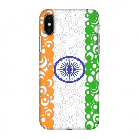 India Flag - Concentric Circles Slim Hard Shell Case For Apple iPhone X