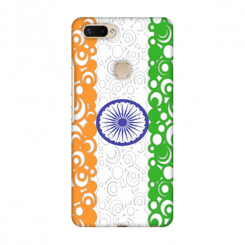 India Flag - Concentric Circles Slim Hard Shell Case For Vivo X20 Plus