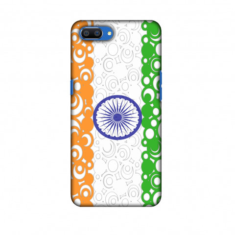 India Flag - Concentric Circles Slim Hard Shell Case For Oppo Realme C1