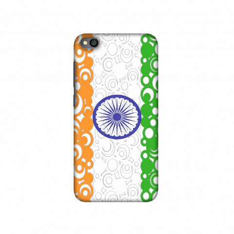 India Flag- Concentric circles Slim Hard Shell Case For Redmi Go