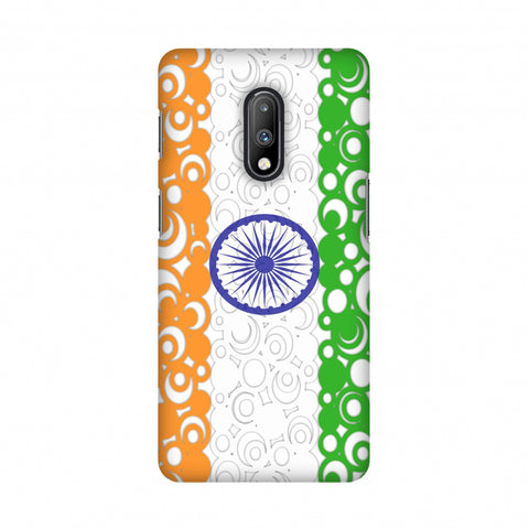 India Flag- Concentric circles Slim Hard Shell Case For OnePlus 7