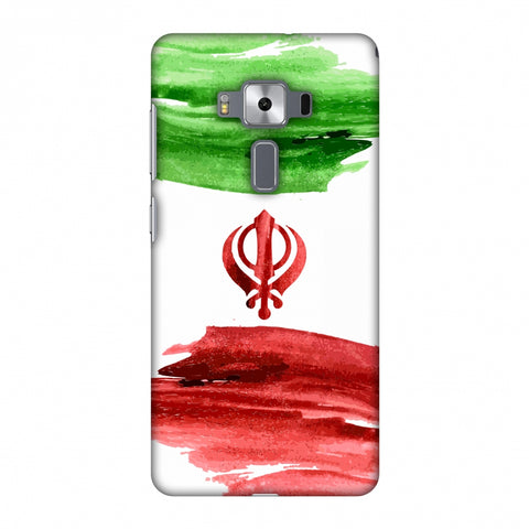 Iran Flag - Paint Strokes Slim Hard Shell Case For Asus Zenfone 3 Deluxe ZS570KL