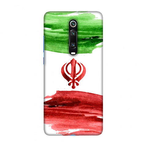 Iran flag- Paint strokes Slim Hard Shell Case For Redmi K20/K20 Pro