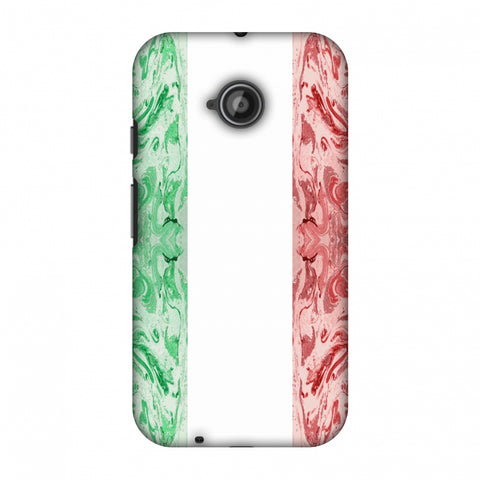 Italian Marble - Italy Flag Slim Hard Shell Case For Motorola Moto E 2nd Gen
