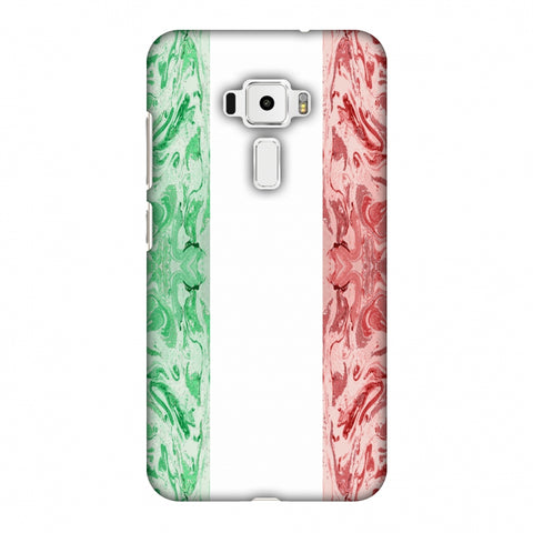 Italian Marble - Italy Flag Slim Hard Shell Case For Asus Zenfone 3 ZE520KL