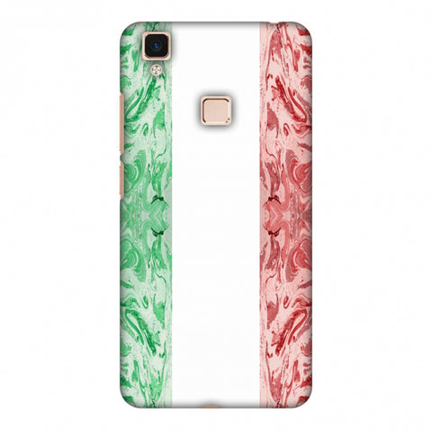 Italian Marble - Italy Flag Slim Hard Shell Case For Vivo V3 Max