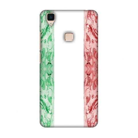 Italian Marble - Italy Flag Slim Hard Shell Case For Vivo V3