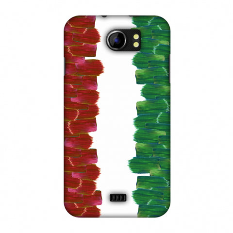 Italy Flag - Brush Strokes Slim Hard Shell Case For Micromax Canvas 2 A110