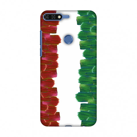 Italy Flag - Brush Strokes Slim Hard Shell Case For Huawei Honor 7C
