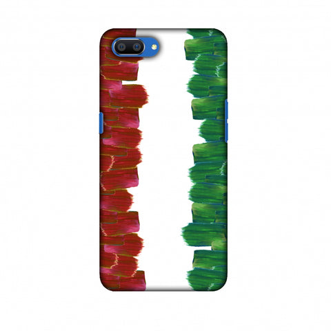 Italy Flag - Brush Strokes Slim Hard Shell Case For Oppo Realme C1