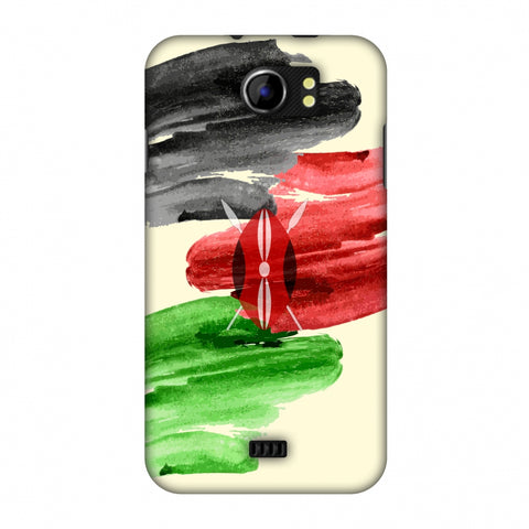 Kenya Flag - Brush Strokes Slim Hard Shell Case For Micromax Canvas 2 A110