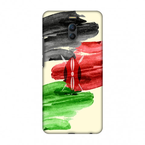 Kenya Flag - Brush Strokes Slim Hard Shell Case For Meizu Note 6