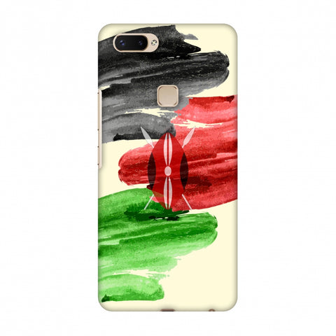 Kenya Flag - Brush Strokes Slim Hard Shell Case For Vivo X20 Plus