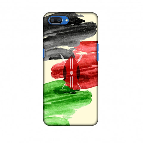 Kenya Flag - Brush Strokes Slim Hard Shell Case For Oppo Realme C1