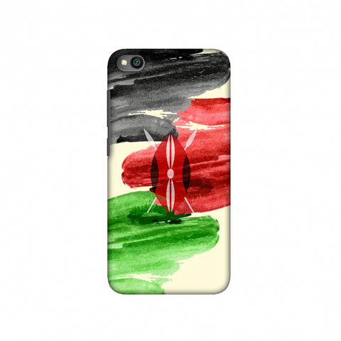 Kenya flag- Brush strokes Slim Hard Shell Case For Redmi Go