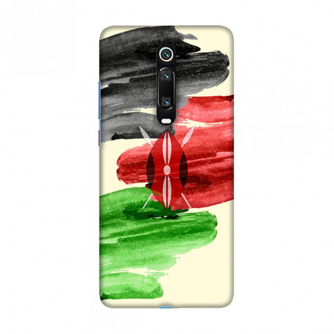 Kenya flag- Brush strokes Slim Hard Shell Case For Redmi K20/K20 Pro