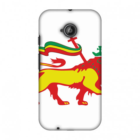 Lion Of Judah - Ethiopia Flag Slim Hard Shell Case For Motorola Moto E 2nd Gen