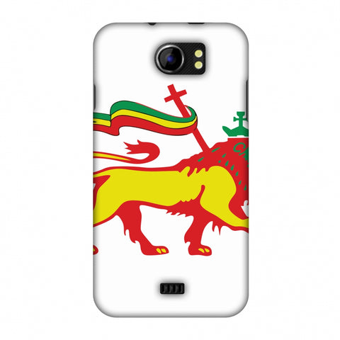 Lion Of Judah - Ethiopia Flag Slim Hard Shell Case For Micromax Canvas 2 A110