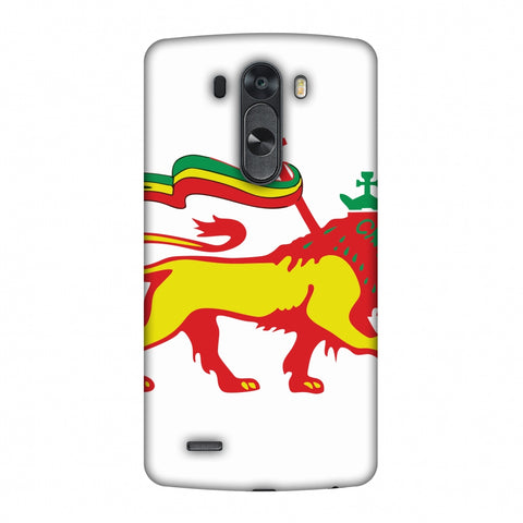 Lion Of Judah - Ethiopia Flag Slim Hard Shell Case For LG G4